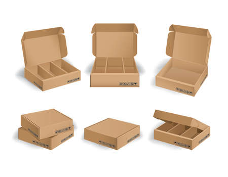Collection of box design package
