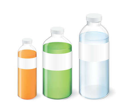 3 sizes of Bottle of water packaging and container