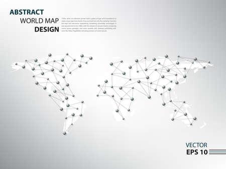 Worldmap spider network infographic