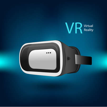 virtual reality simulator: VR virtual reality simulator device by illustration in vector eps10 Illustration