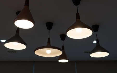 lighting decoration on ceiling, abstract for creative idea