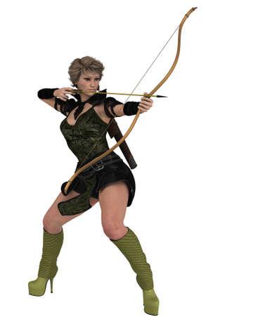 ranger: Femmina Ranger Vettoriali