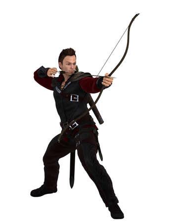 elite: Male Fire Order Elite Archer Illustration