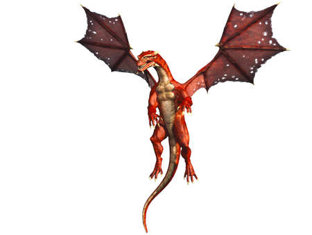 beast creature: Flying Red Dragon