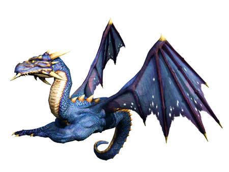 drake: Blue Dragon Lying