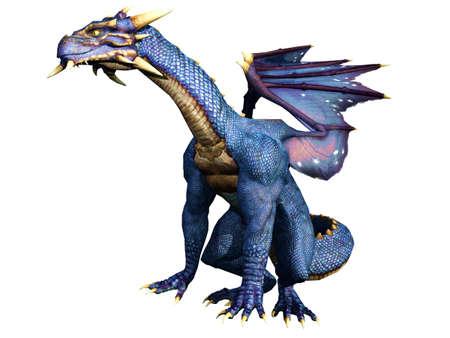 drake: Blue Dragon Sitting