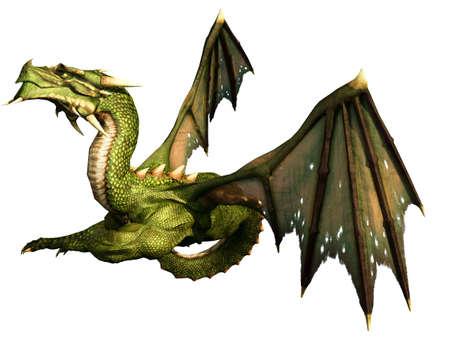 drake: Green Dragon Lying Illustration