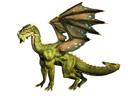 drake: Green Dragon Standing Proud