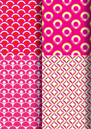 japan pattern: japan patroon set nieuwe 1 Stock Illustratie