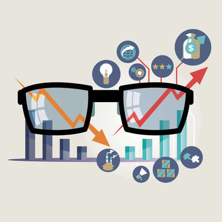 Vector illustration concept for business strategy and industrial planning. Economic and statistic. Business Plan Illustration