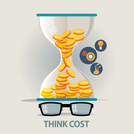 cost saving: vector illustration concept for business strategy and industrial planning. Saving cost Illustration