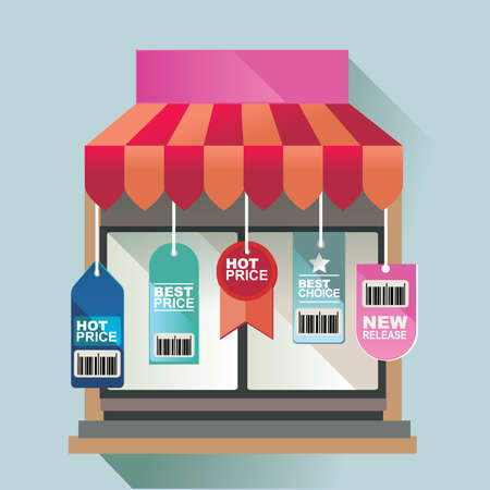 retail: vector illustration concept for retail store and business