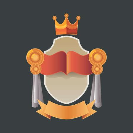 Vector illustration vintage badge - realist label - decoration - blank label or badge