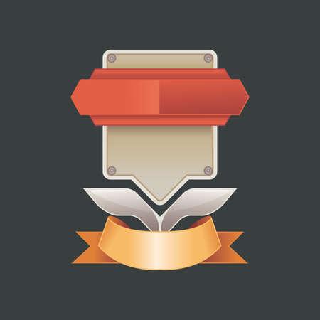 realist: Vector illustration vintage badge - realist label - decoration - blank label or badge