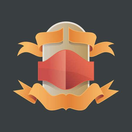 Vector illustration vintage badge - realist label - decoration - blank label or badge Vetores