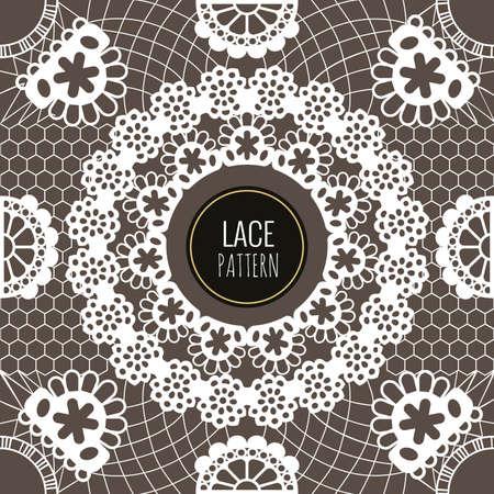 Seamless pattern lace. 矢量图像