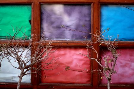 multi color old window