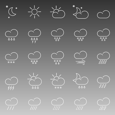 hail: set with different weather icon