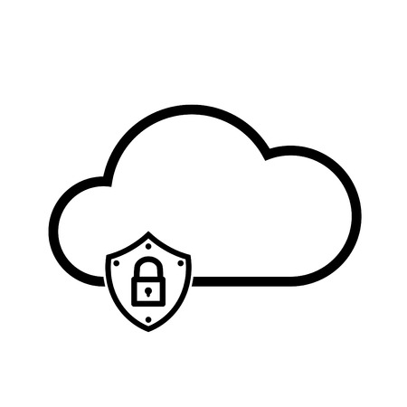 Cloud download, linear icon. One of a set of linear web icons