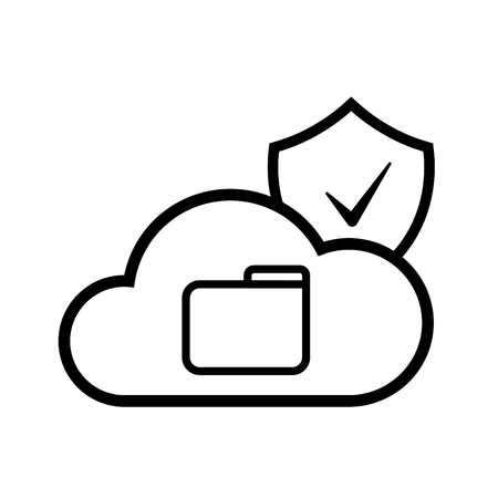 Cloud icon for cloud computing web and app