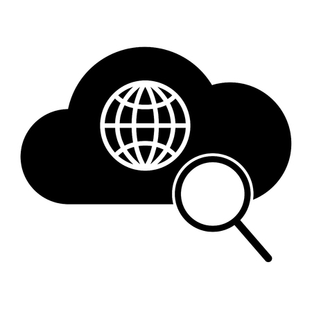magnific: Search web icon Cloud Technology. Internet Technology