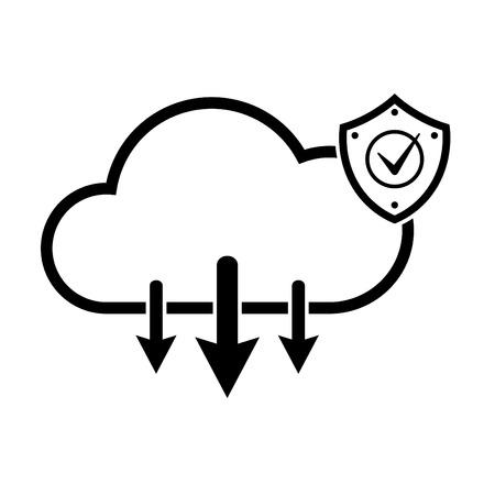 Cloud internet technology. IT cloud Universal internet icons