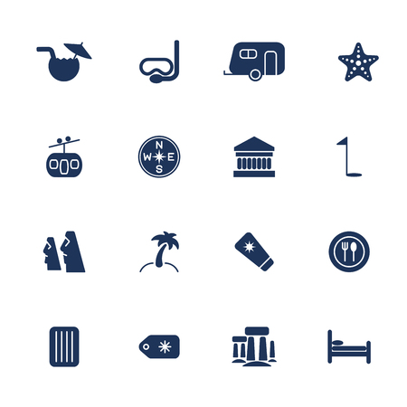 easter island: Simple travel icons set. Universal travel icons to use for web and mobile UI, set of basic UI travel elements