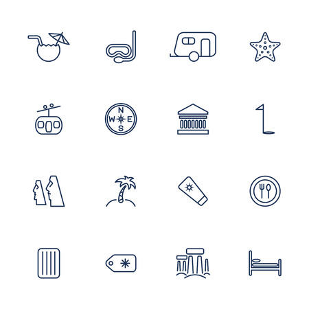 dive trip: Simple travel icons set. Universal travel icons to use for web and mobile UI, set of basic UI travel elements