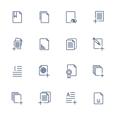 paperboard: Set document icons, paper icons. EPS 10