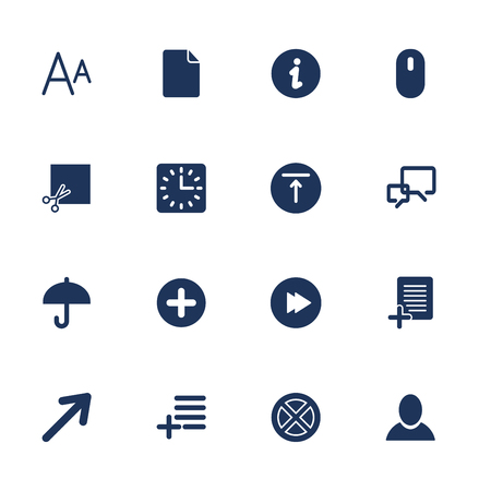 file types: Simple set icon for app, programs and sites.