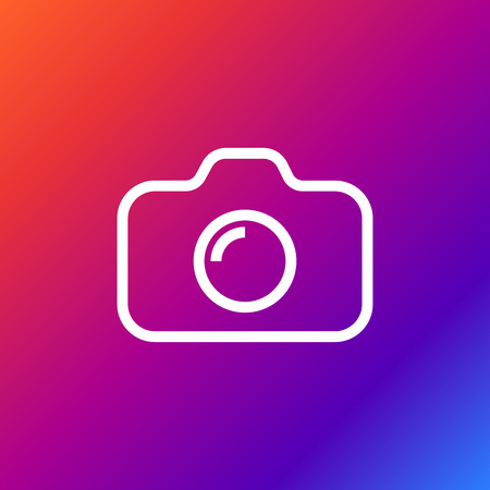 Camera Icon on colored background.