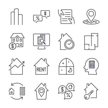 Real Estate Icons. Ilustração