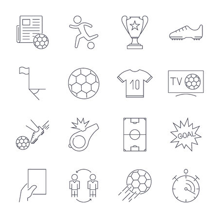 Soccer Icons set. Editable Stroke Stock Illustratie