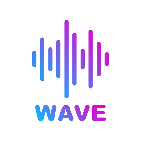Sound and Audio Waves. Logotype of music and audio theme. EPS 10