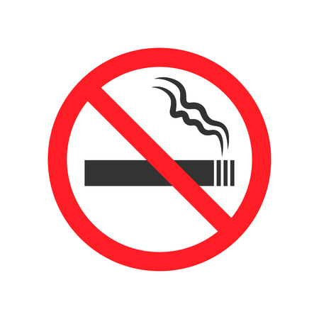 No smoking sign on white background Vector illustration.