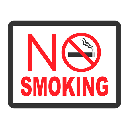 No smoking sign in red ink vector illustration 일러스트
