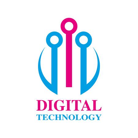 Abstract digital technology design. Digital Planet design. EPS 10