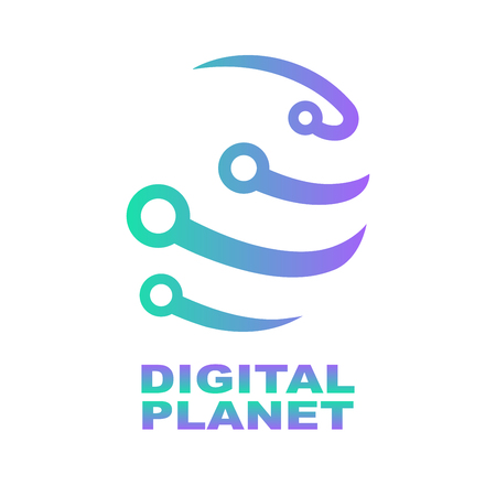 World Tech Logo Design Template. Network, digital technology. Abstract digital shape concept for modern technologies. EPS 10 Stock Illustratie