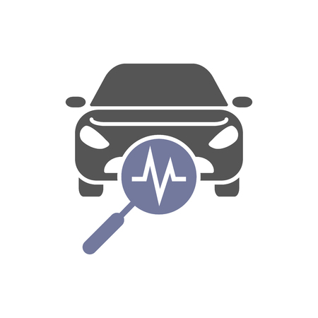 Car diagnostics, icon auto service, vector illustration eps 10 Çizim