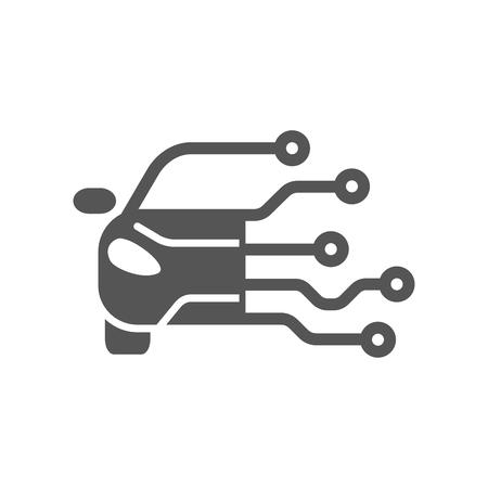 Car Tech Logo Template Designs. Modern Logotype Banco de Imagens - 107912038