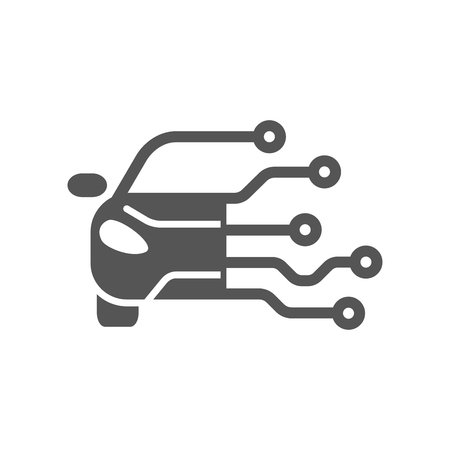 Conceptions de modèle de logo de voiture de technologie. Logotype moderne