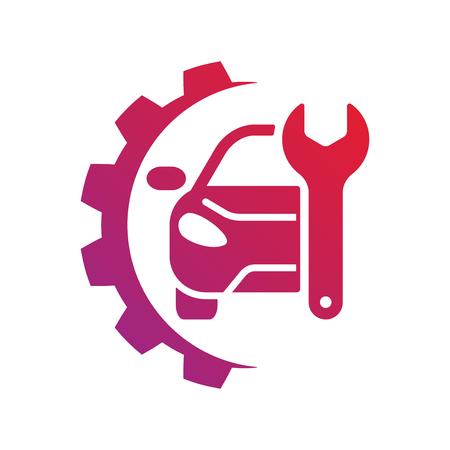 Segno di servizio automatico. Logo di riparazione auto. EPS 10