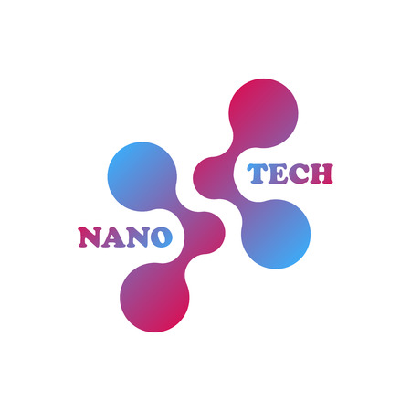 Molecule logo template. Isolated on white background. Vector illustration, Eps 10. Çizim