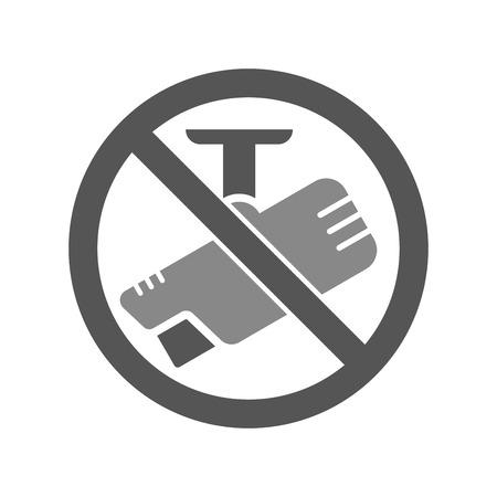 No camera sign with label for print and digital content vector icon Ilustração