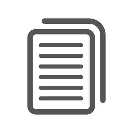 Document icon stock vector illustration flat design. EPS 10