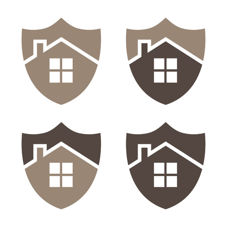 Home security shield vector illustration. EPS 10. Vector