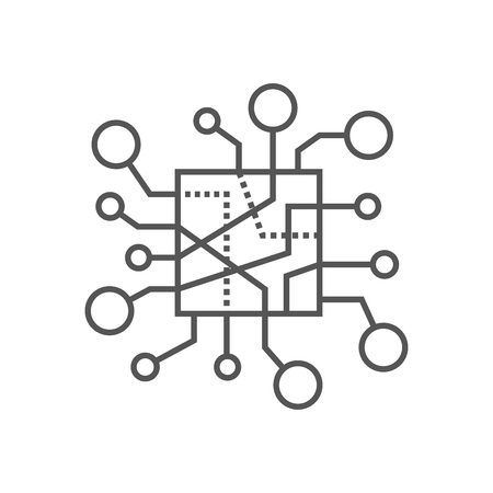 IOT Sign, Internet of Things icon. Editable Stroke. EPS 10