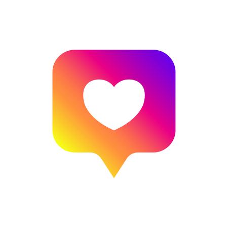 New counter notification icon. Icon like Instagram. Social media like insta ui, app, iphone. Vector illustration. EPS 10. Illustration