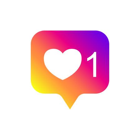 Social media notifications, like, followers, good. Social media like insta ui, app, iphone. Vector illustration. EPS 10.