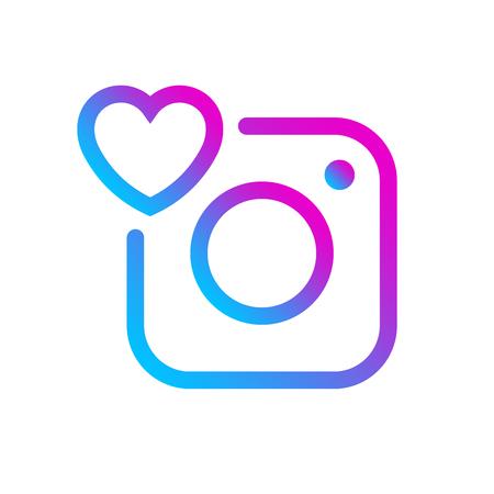Social media icon comment label gradient color Instagram. Insta Comment button, symbol, ui, sign, logo. Message sign, post symbol. Vector illustration. EPS 10